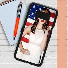 Lana Del Rey Sexy Kiss And American Flag Samsung Galaxy S8 Plus Case Dewantary