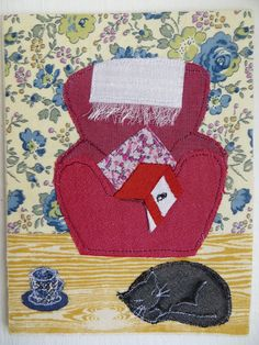 Being Cosy.  4.5 x 6 inches.