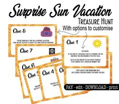 If you like this surprise travel trip. Check others on my surprise vacation board :) Thanks for sharing! Treasure Hunt Riddles, Scavenger Hunt Riddles, Scavenger Hunt For Kids, Florida Travel, California Vacation, Travel Trip, Florida Vacation, Vacation Places, Vacation Ideas
