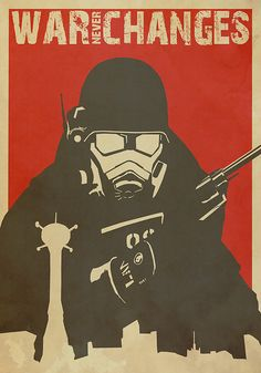 Fallout poster created by lacey roberts gaming posters fallout posters fallout art - Fallout new vegas skyline ...