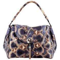 VERSACE SNAKESKIN TALIA VANITAS SATCHEL  Top handle bag Colors  Blue fdaa4488f10