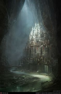 Netherworld Archipelago - the Capital by Jesse van Dijk | 2D | CGSociety via PinCG.com