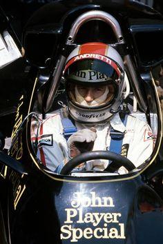 Mario Andretti Lotus 77 Grand Prix of Spain Circuito del Jarama 1976 Dirt Track Racing, F1 Racing, Drag Racing, Lotus F1, Mario Andretti, Yamaha Motorcycles, Nissan 370z, Valentino Rossi, Lamborghini Gallardo