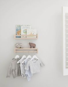 IKEA nursery hacks - use spice racks to create shelves and hanging space for clothes - you can paint them too! Check out my genius IKEA nursery hacks Ikea Nursery, Nursery Shelves, Ikea Shelves, Nursery Room, Nursery Ideas, Ikea Spice Racks As Book Shelves, Book Storage, Ikea Spice Rack Hack, Ikea Baby Room