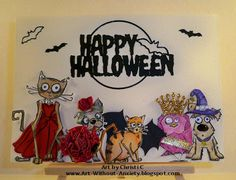 Tim Holtz Crazy Critters get all Dressed up for Halloween  http://art-without-anxiety.blogspot.com/2017/10/join-monster-mash-at-stinkin-inkers.html