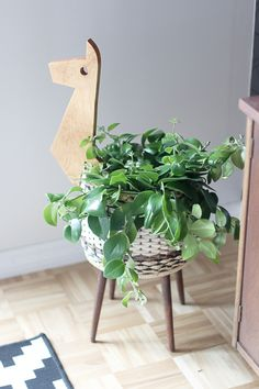 Turn a Sewing Basket into a Playful Planter | Hello Lidy for Curbly