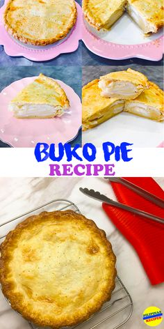 """Everyone loves pies especially the Buko Pie, the perfect partnership of crisp pastry and luscious fillings. One of the most well-known delicacy in the Philippines is Buko Pie. This recipe is originated from the province of Laguna who is known to be the home of the finest """"Buko"""" pies in the Philippines."""