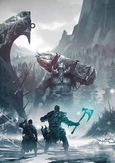 -God Of War-, Omer Gunn auf ArtStation bei . - The Fantasy Fiends Publishing Inc. - - -God Of War-, Omer Gunn auf ArtStation bei . - The Fantasy Fiends Publishing Inc. Kratos God Of War, Foto Fantasy, Fantasy World, Dark Fantasy, Fantasy Battle, Good Of War, Norse Mythology, Video Game Art, Dark Souls