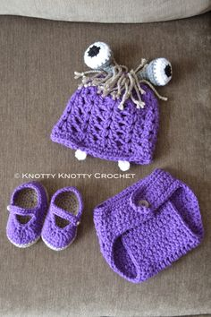 "Knotty Knotty Crochet: ""Boo"" inspired three piece set. FREE PATTERN"