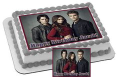 The Vampire Diaries Edible Cake & Cupcake by CakeTopperSpecialist