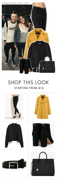 """""""Meeting fans with Liam"""" by perfectharry ❤ liked on Polyvore featuring Barbara Bui, Aquazzura, rag & bone and Yves Saint Laurent"""