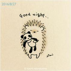 Slaap lekker egeltje en knuffeltje