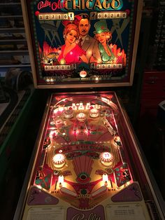 Old Chicago pinball machine. I love playing this game tons of fun!