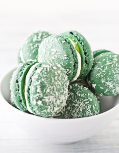 Coconut and Lime Macarons