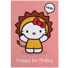 Hello Kitty Card: Happy Birthday Roar