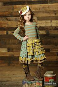 Mustard Pie Clothing - Knit Regan Apron Dress in Aqua Sand