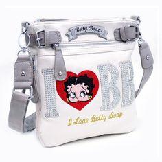 I Love Betty Boop® Messenger Bag w/ Rhinestones