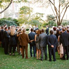 Brides.com: 50 Ways to Save $500. 8. Standing Ceremonies Will Save You Big If you're marrying outdoors, consider a standing ceremony to save on seating rentals. But remember to bring a few chairs for elderly guests or those who might be unable to remain on their feet. And keep it brief!