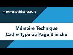 Mémoire Technique Cadre Type ou Page Blanche - YouTube
