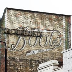victorian ghost signs | AN OLD 'GHOST SIGN' FOR BOOTS THE CHEMIST IN CAMDEN, NORTH LONDON.