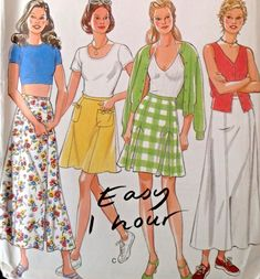 e33e60f3b UC New Look 6463 Sewing Pattern Easy 1 Hour Skirts Maxi All Sizes 8-18