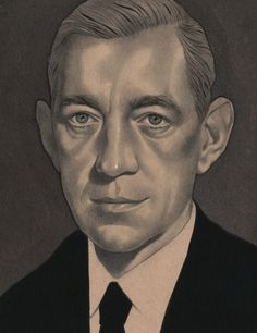 Portrait of the late actor Alec Guinness for The New Yorker.  © Edward Kinsella III