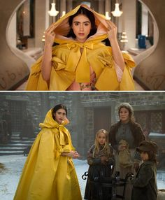 Mirror Mirror (2012) Starring: Lily Collins as Snow White, Mélodie Simard and Dawn Ford as Towns People. (click thru for larger image)