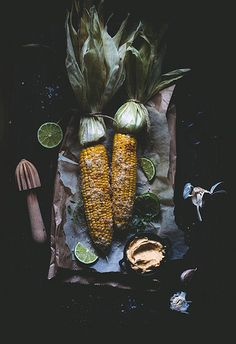 Corn on the cob with chili garlic butter and parmesan by Call me cupcake, via Flickr