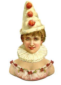 Paper Dolls Vintage Printable Free | ... Graphics Fairy LLC*: Vintage Printable Paper Doll - Pierrot Clown Lady
