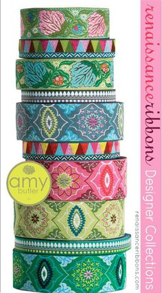 These are reminiscent of ribbons from the 50's and 60's.