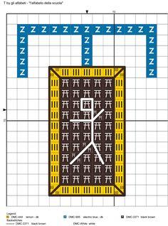 alfabeto della scuola T