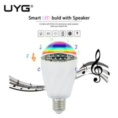 Ideal UYG E uE Wireless Bluetooth Speaker Cool design Colorful Smart LED Light Bulb Lamp Color Change Dimmable