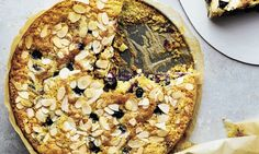 How sweet it is: Coconut, almond and blueberry cake