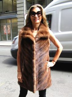 8a5df685ee Natural demi buff mink vest in a chevron pattern. This is also one of our.  Madison Avenue Furs ...