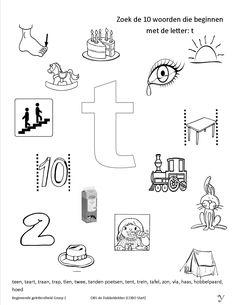 (2017-10) Hvad begynder med t? Name Activities, Indoor Activities, Activities For Kids, Alphabet Worksheets, Preschool Worksheets, Beginning Sounds Worksheets, Free Preschool, Letter T, Kids Education