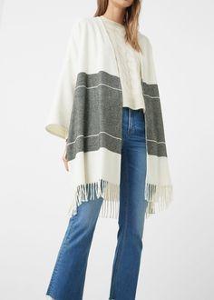 Belted wool-blend cardigan | MANGO