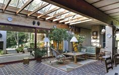 inner covered courtyard