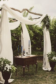 Gorgeous wedding ceremony arch | Image by Natalie Puls