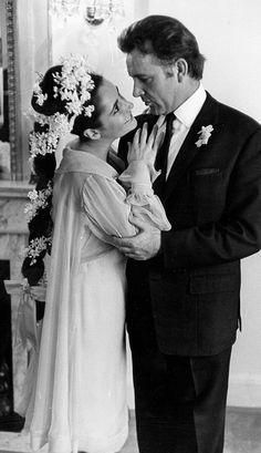 Elizabeth Taylor wearing an Irene Sharaff wedding dress.