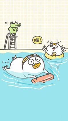 Cartoon Pics, Cute Cartoon Wallpapers, Duck Emoji, Duck Wallpaper, Stupid Pictures, Funny Duck, Ipad Background, Slider Cards, Little Duck