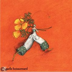 "Gaelle Boissonnard: Greeting Cards and more...: Flower: ""Poppies"" postcard by Gaelle Boissonnard"