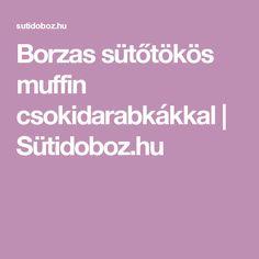 Borzas sütőtökös muffin csokidarabkákkal | Sütidoboz.hu