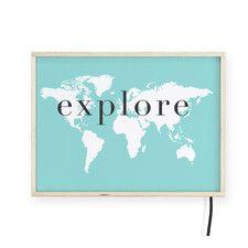 """""""Explore"""" Light Box Wall Lamp"""