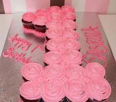 1st Birthday Cupcake Cake by dina