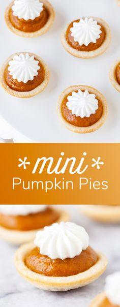 Mini Pumpkin Pies Re