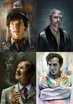 sherlock martin freeman Benedict Cumberbatch john watson SHERLOCK FANART mark gatiss andrew scott mycroft holmes moriarty Sherlockians sherlock s3