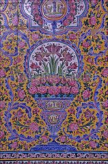 30068999 (wolfgangkaehler) Tags: city pink flowers flower art tile asia iran cities mosque tiles shiraz iranian mosques shiraziran persianarchitecture Tile Painting, Tile Art, Wall Tiles, Iran, Blue Color Combinations, Islamic Tiles, Painted Tiles, World Best Photos, Beautiful Architecture