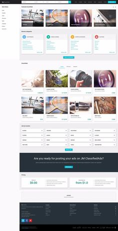 Material Design Joomla Template Classifieds Portal