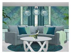 """MINIMAL WALLPAPER"" by arjanadesign ❤ liked on Polyvore featuring interior, interiors, interior design, home, home decor, interior decorating, VCNY, Home, Minimalist and interiordesign"