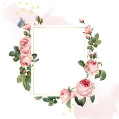 Blank rectangle pink roses frame on pink and white background Free Vector A nice frame of flowers, namely pink flowers for Merry Wedding, the pink color symbolizes the new journey to life of couple! Pink And White Background, Gold Glitter Background, Rose Frame, Flower Frame, Diy Wedding Programs, Wedding Cards, Illustration Blume, Design Floral, Book Design Layout